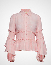 by Ti Mo Semi Couture Flared Shirt Bluse Langermet Rosa BY TI MO
