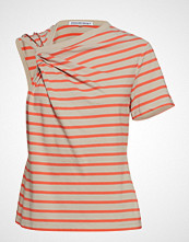 T by Alexander Wang Thin Stripe High Twist Twisted Top T-shirts & Tops Short-sleeved Rød T BY ALEXANDER WANG