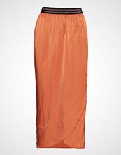 Coster Copenhagen Skirt W. Elastic In Waist Knelangt Skjørt Oransje COSTER COPENHAGEN