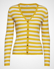 Filippa K Striped Cardigan Strikkegenser Cardigan Gul FILIPPA K