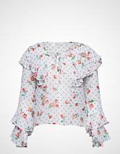 GUESS Jeans Ls Thelma Top Bluse Langermet Hvit GUESS JEANS