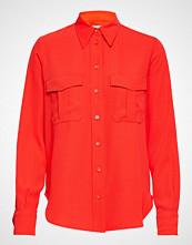 Calvin Klein Smooth Twill Police Pkt Shirt Ls Langermet Skjorte Rød CALVIN KLEIN