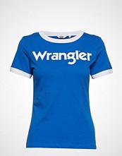 Wrangler Ringer Tee T-shirts & Tops Short-sleeved Blå WRANGLER