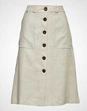 Morris Lady Blanca Safari Skirt Knelangt Skjørt Creme MORRIS LADY