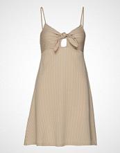 Gina Tricot Rosita Dress Knelang Kjole Beige GINA TRICOT