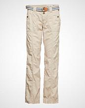 Edc by Esprit Pants Woven Bukser Med Rette Ben Beige EDC BY ESPRIT