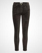 FRAME Le Velveteen High Skinny Skinny Jeans Svart FRAME