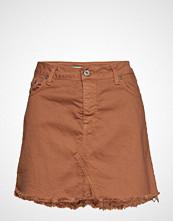 Please Jeans Skirt Short Kort Skjørt Brun PLEASE JEANS