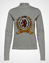 Hilfiger Collection Luxury Crest Mock Neck Tshirt Ls Høyhalset Pologenser Grå HILFIGER COLLECTION