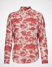 Scotch & Soda Over D Boxy Fit Cotton Viscose Shirt In Various Prints Langermet Skjorte Rød SCOTCH & SODA