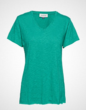Denim Hunter Dhluz V Neck Tee Slub Yarn Jersey T-shirts & Tops Short-sleeved Grønn DENIM HUNTER