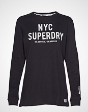 Superdry Aida Long Sleeve Top T-shirts & Tops Long-sleeved Svart SUPERDRY