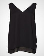 Zizzi Xbana, S/L, Top T-shirts & Tops Sleeveless Svart ZIZZI