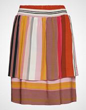 Coster Copenhagen Skirt In Stripe Print Kort Skjørt Multi/mønstret COSTER COPENHAGEN