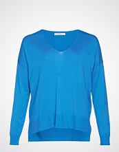 Violeta by Mango Asymmetric Hem Sweater Strikket Genser Blå VIOLETA BY MANGO