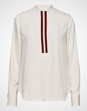 Calvin Klein Placket Detail Shirt Langermet Skjorte Creme CALVIN KLEIN