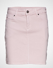 Lexington Clothing Alexa Pink Denim Skirt Kort Skjørt Rosa LEXINGTON CLOTHING