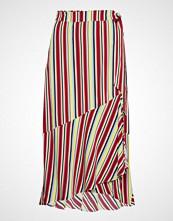 Denim Hunter Dhgracia Wrap Skirt Multi Colour St Knelangt Skjørt Rød DENIM HUNTER