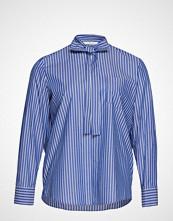 Violeta by Mango Striped Bow Cotton Shirt Langermet Skjorte Blå VIOLETA BY MANGO