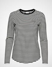 Saint Tropez Striped T-Shirt W Heart T-shirts & Tops Long-sleeved Multi/mønstret SAINT TROPEZ