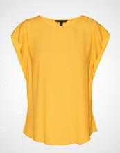 Banana Republic Ss Mariner Button Flutter Sleeve Top T-shirts & Tops Short-sleeved Gul BANANA REPUBLIC