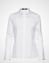 Karl Lagerfeld Shirt W/ Layered Back Detail Bluse Langermet Hvit KARL LAGERFELD