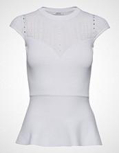 GUESS Jeans Julie Ss Rn Sweater Bluse Kortermet Hvit GUESS JEANS