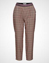Coster Copenhagen Pants In Checks W. Lurex Tape Vide Bukser Rosa COSTER COPENHAGEN