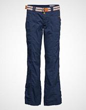 Edc by Esprit Pants Woven Bukser Med Rette Ben Blå EDC BY ESPRIT