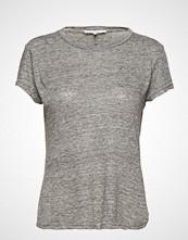 FRAME Classic Linen Crew T-shirts & Tops Short-sleeved Grå FRAME