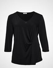 Violeta by Mango Pleated Detail T-Shirt T-shirts & Tops Long-sleeved Svart VIOLETA BY MANGO