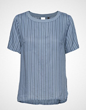 Pulz Jeans Esther S/S Blouse T-shirts & Tops Short-sleeved Blå PULZ JEANS