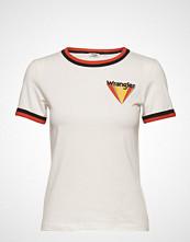 Wrangler Ringer Tee T-shirts & Tops Short-sleeved Hvit WRANGLER