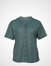 Violeta by Mango Tortoiseshell Buttons T-Shirt T-shirts & Tops Short-sleeved Grønn VIOLETA BY MANGO