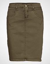 Cream Amalie Skirt - Knee Lgd. Kort Skjørt Grønn CREAM