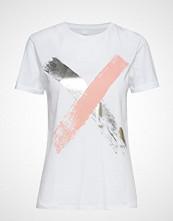 Boss Casual Wear Tepaint T-shirts & Tops Short-sleeved Hvit BOSS CASUAL WEAR