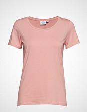 Saint Tropez T-Shirt With Round Neck T-shirts & Tops Short-sleeved Rosa SAINT TROPEZ