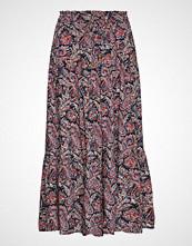 Lexington Clothing Evelyn Paisley Skirt Knelangt Skjørt Rød LEXINGTON CLOTHING