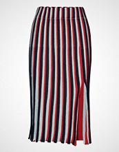 Stine Goya Wesley, 581 Sparkle Knit Knelangt Skjørt Rød STINE GOYA