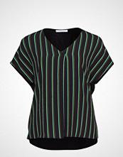 Violeta by Mango Wrap V-Neckline T-Shirt T-shirts & Tops Short-sleeved Grønn VIOLETA BY MANGO