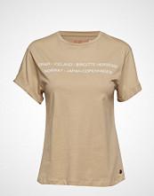 Birgitte Herskind Cee T-Shirt T-shirts & Tops Short-sleeved Beige BIRGITTE HERSKIND