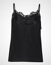 Soaked in Luxury Sl Clara Singlet Forever Irresistib T-shirts & Tops Sleeveless Svart SOAKED IN LUXURY
