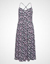 Banana Republic Sl Pintuck Midi Fnf Dress Print Knelang Kjole Rosa BANANA REPUBLIC