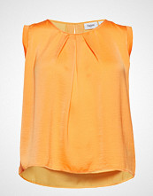 Saint Tropez R1292, Top With Gather Detail At Sl Bluse Ermeløs Oransje SAINT TROPEZ