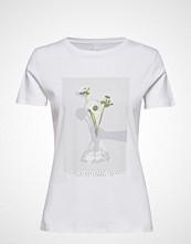 Boss Casual Wear Tephoto T-shirts & Tops Short-sleeved Hvit BOSS CASUAL WEAR