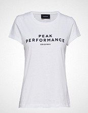 Peak Performance W Orig Tee T-shirts & Tops Short-sleeved Hvit PEAK PERFORMANCE