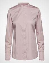 Coster Copenhagen Feminine Fit Shirt W. Plisse Grosgr Langermet Skjorte Rosa COSTER COPENHAGEN