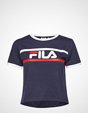 FILA Ashley Chropped Tee T-shirts & Tops Short-sleeved Blå FILA