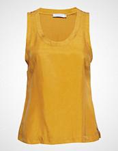 Coster Copenhagen Strap Top W. Jersey Back T-shirts & Tops Sleeveless Gul COSTER COPENHAGEN