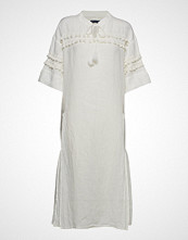 Levi's Made & Crafted Lmc Tassel Dress Bright White Knelang Kjole Hvit LEVI'S MADE & CRAFTED